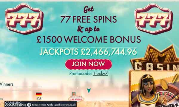 777 free spins no deposit casino